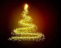 The best Christmas tree background with reflection Stock Photos