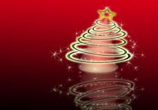 The best Christmas tree background with reflection Royalty Free Stock Image