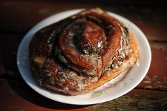 The best cinnamon roll Royalty Free Stock Photography