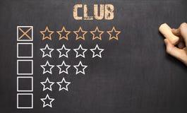 Best club five golden stars.Chalkboard Royalty Free Stock Photos