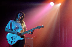 Best Coast (band from Los Angeles), performs at Discotheque Razzmatazz Royalty Free Stock Image