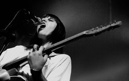 Best Coast (band), performs at Discotheque Razzmatazz Stock Photography