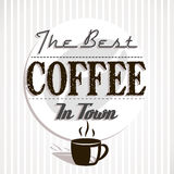 Best coffe in town Royalty Free Stock Image