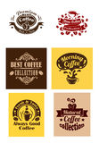 Best coffee logos and banners Royalty Free Stock Image