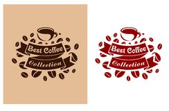Best coffee retro banner Stock Photography