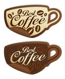 Best coffee stickers. Stock Photography