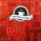 Best Coffee In Town Background. Vector Stock Image