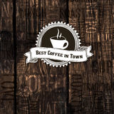 Best Coffee In Town Poster. Vector Stock Images