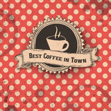 Best coffee in town template design. Royalty Free Stock Images