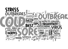 Best Cold Sore Treatment Helpful Tips Word Cloud Royalty Free Stock Photos