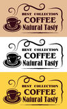 Best Collection Coffee labels Stock Photo