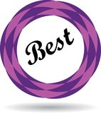 Best colorful icon. Best colorful web icon button of vector illustration on isolated white background with shadow Royalty Free Stock Images