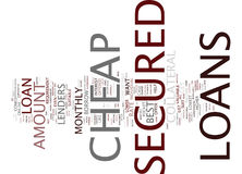The Best Comes With The Lowest With Cheap Secured Loans Text Background  Word Cloud Concept Stock Photography