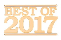 Best of 2017 concept. 3D rendering. Isolated on white background Royalty Free Stock Images