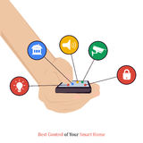 Best control of your smart home Royalty Free Stock Photos