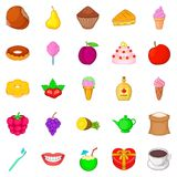 Best cook icons set, cartoon style Royalty Free Stock Photography