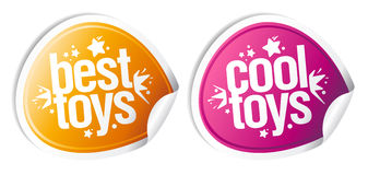 Best cool toys stickers. Stock Photography