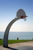 Best Court. Basketball court overlooking Pacific Ocean Stock Photo