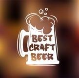 Best craft beer. Oktoberfest 2016 beer festival. Vector illustration. Stock Images