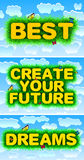 Best - Create Your Future - Dreams Stock Images