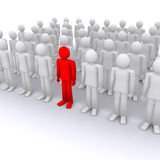 Best of crowd, successful. And unique man, leader, other among people royalty free illustration