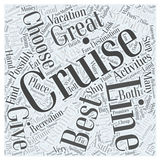 Best cruise lines word cloud concept vector background. Text Royalty Free Stock Images