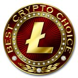 Best Crypto Choice - LITECOIN. Bestseller cryptocurrency coin in crypto currency top-chart, best choice, winner Stock Images