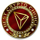 Best Crypto Choice - TRON Royalty Free Stock Photography