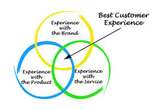 Best customer experience. Diagram of Best customer experience Royalty Free Stock Photos