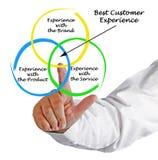 Best Customer Experience. Presenting diagram of Best Customer Experience Royalty Free Stock Photo