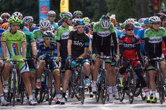 Best cyclists in the world prepare to take on second leg of the. MONTREAL, CANADA, SEPTEMBER 15TH 2013 - Peter SAGAN, Alberto CONTADOR, Christopher FROOME Stock Image