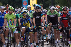 Best cyclists in the world prepare to take on second leg of the. MONTREAL, CANADA, SEPTEMBER 15TH 2013 - Peter SAGAN, Alberto CONTADOR, Christopher FROOME Royalty Free Stock Images