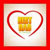 Best Dad Background. Vector illustration of Best Dad background Stock Image
