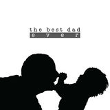 Best dad with child silhouette illustration in black Royalty Free Stock Photography