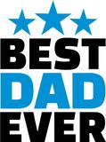 Best Dad ever. Family vector Royalty Free Stock Image