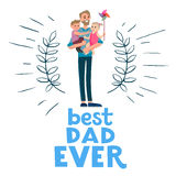 Best dad ever card Stock Photo