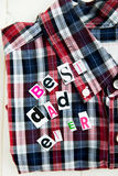 Best Dad Ever Letters and Shirt Royalty Free Stock Images