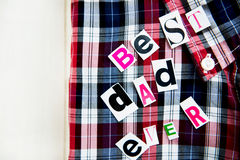 Best Dad Ever Letters and Shirt Stock Photo