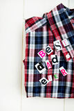 Best Dad Ever Letters and Shirt Royalty Free Stock Image