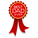 Best Dad Ever Ribbon Style. Vector Illustration of Best Dad Ever Ribbon Style Stock Photography