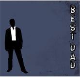 Best Dad grunge vector background. Best Dad grunge blue vector background Stock Images