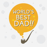 Best Dad, Happy Fathers Day. Vector illustration Stock Photography