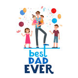 Best dad holiday Royalty Free Stock Images
