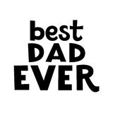 Best dad lettering Royalty Free Stock Photo
