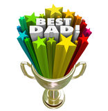 Best Dad Prize Award Trophy Top Father Parenting Skills Royalty Free Stock Images