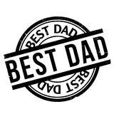 Best Dad rubber stamp Stock Images