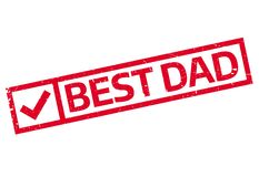 Best Dad rubber stamp Stock Photography