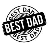 Best Dad rubber stamp Royalty Free Stock Photo