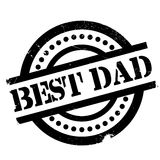 Best Dad rubber stamp Royalty Free Stock Photography