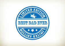Best Dad- Stamp Stock Image